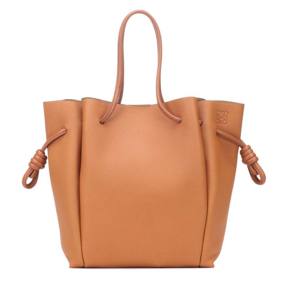 ロエベ Loewe レディース バッグ トートバッグ【Flamenco Knot leather tote】Light Caramel/Tan