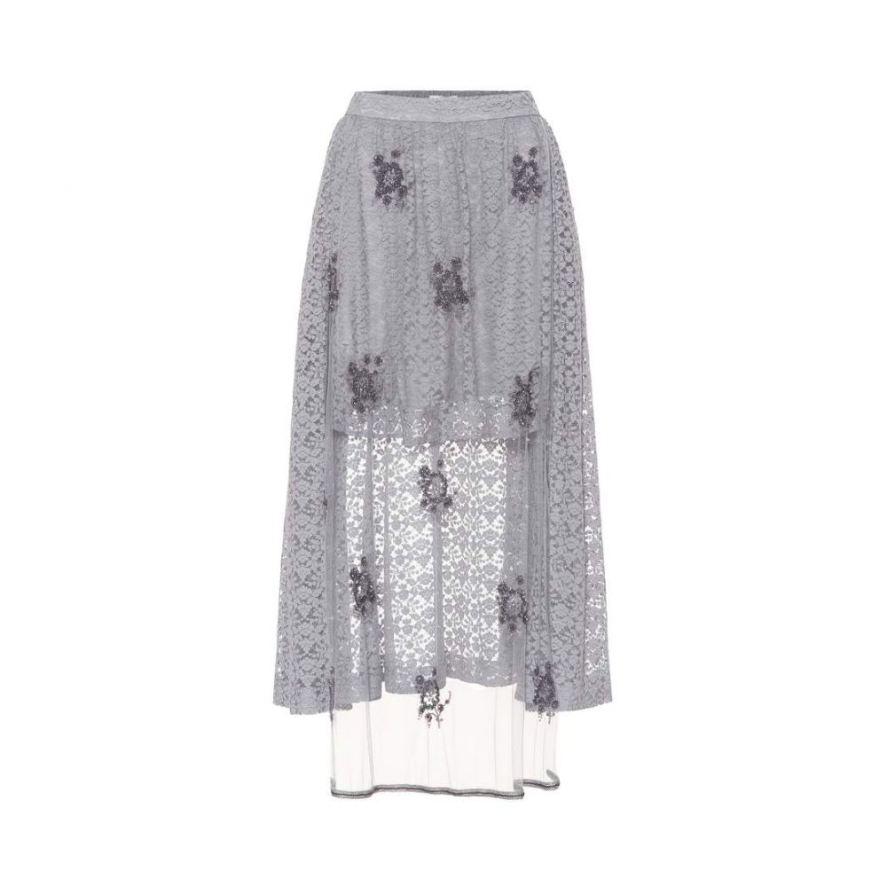 ステラ マッカートニー Stella McCartney レディース スカート【Embellished lace skirt】light dumbo grey