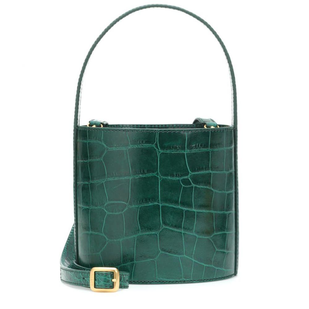 スタッド Staud レディース バッグ【Bissett embossed leather bucket bag】Jade Faux Croc
