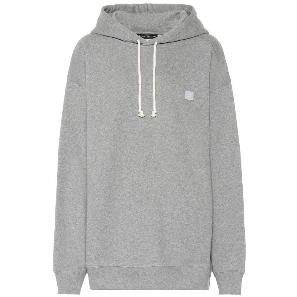 アクネ ストゥディオズ Acne Studios レディース トップス パーカー【Ferris Face oversized cotton hoodie】Light Grey Mel