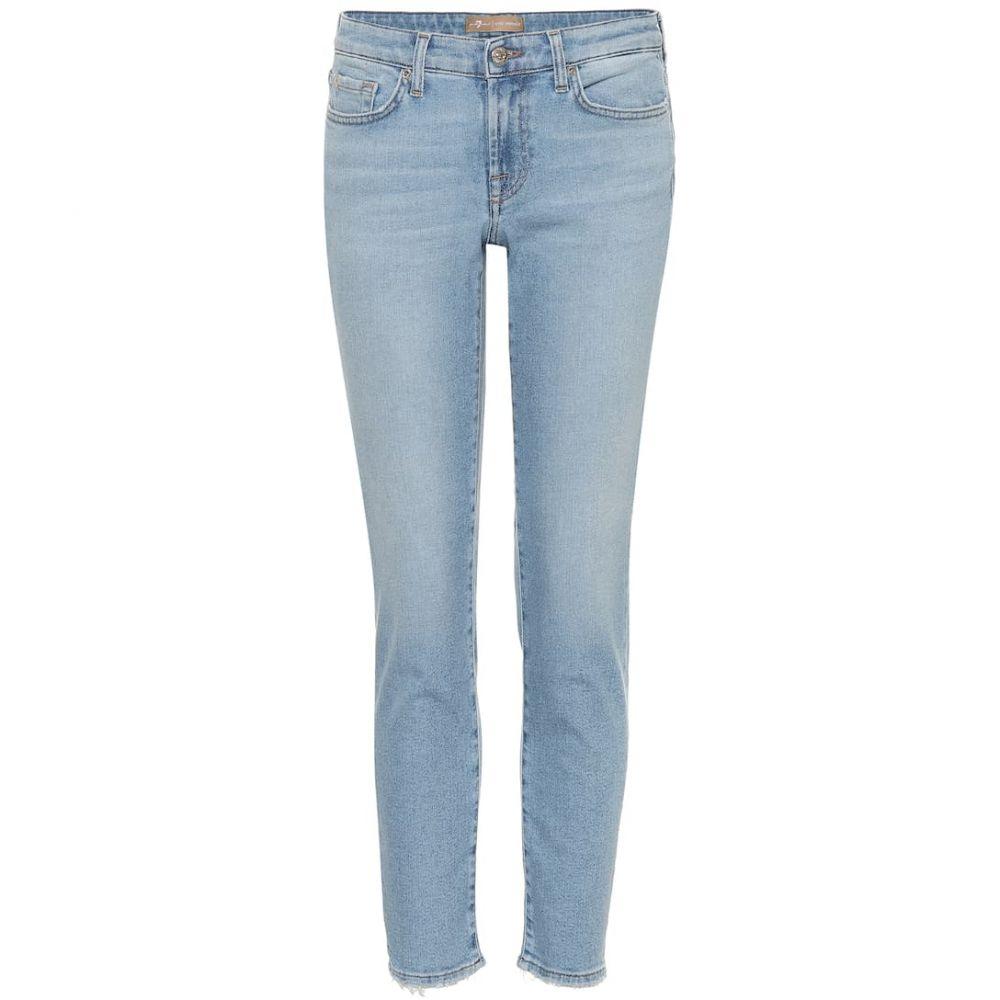 セブン フォー オール マンカインド 7 For All Mankind レディース ボトムス・パンツ ジーンズ・デニム【Pyper cropped mid-rise skinny jeans】Light Blue