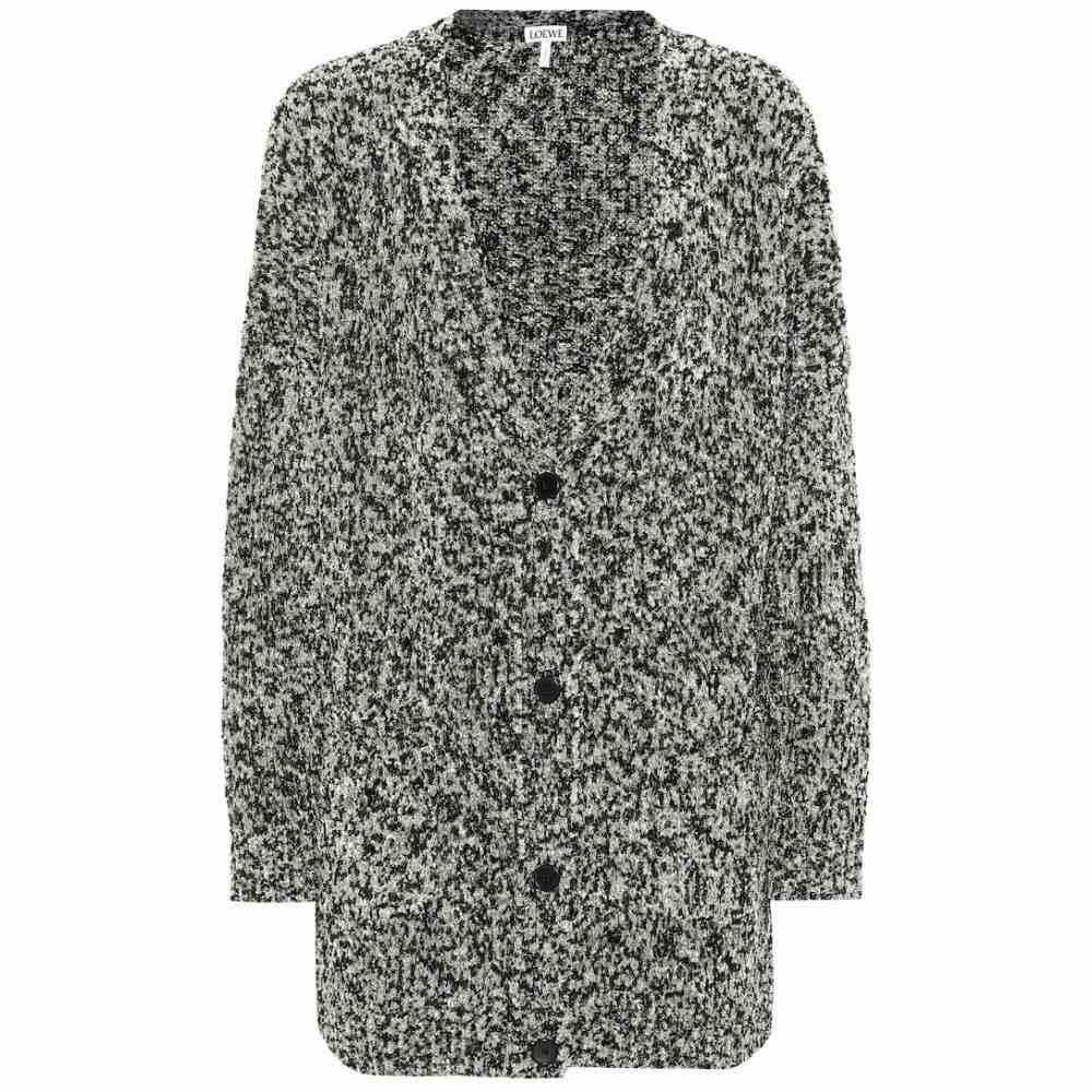 ロエベ Loewe レディース トップス カーディガン【Oversized Lurex cardigan】Light Grey