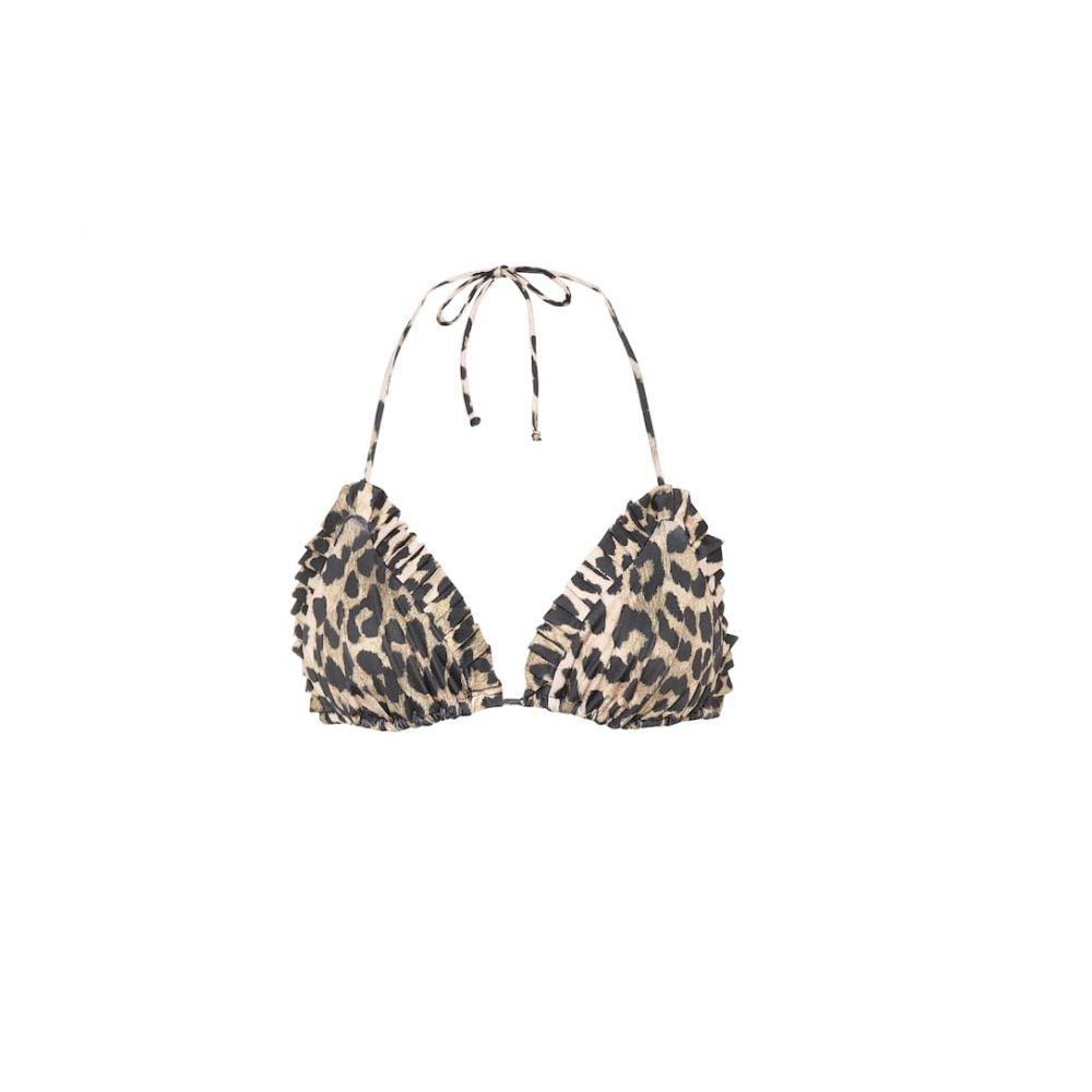 ガニー Ganni レディース 水着・ビーチウェア トップのみ【Leopard print bikini top】leopard