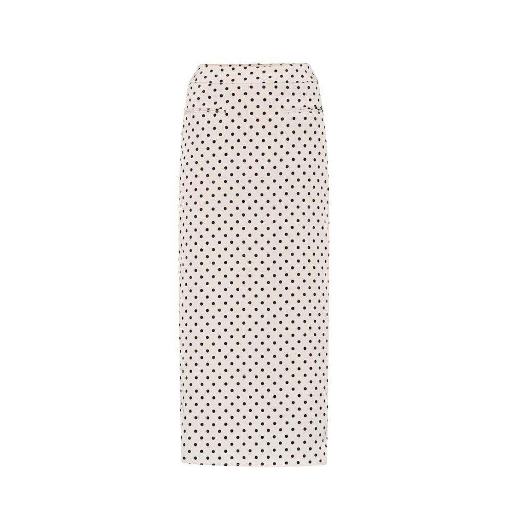 レジーナ ピヨ Rejina Pyo レディース スカート ひざ丈スカート【Mina polka-dot printed midi skirt】ivory