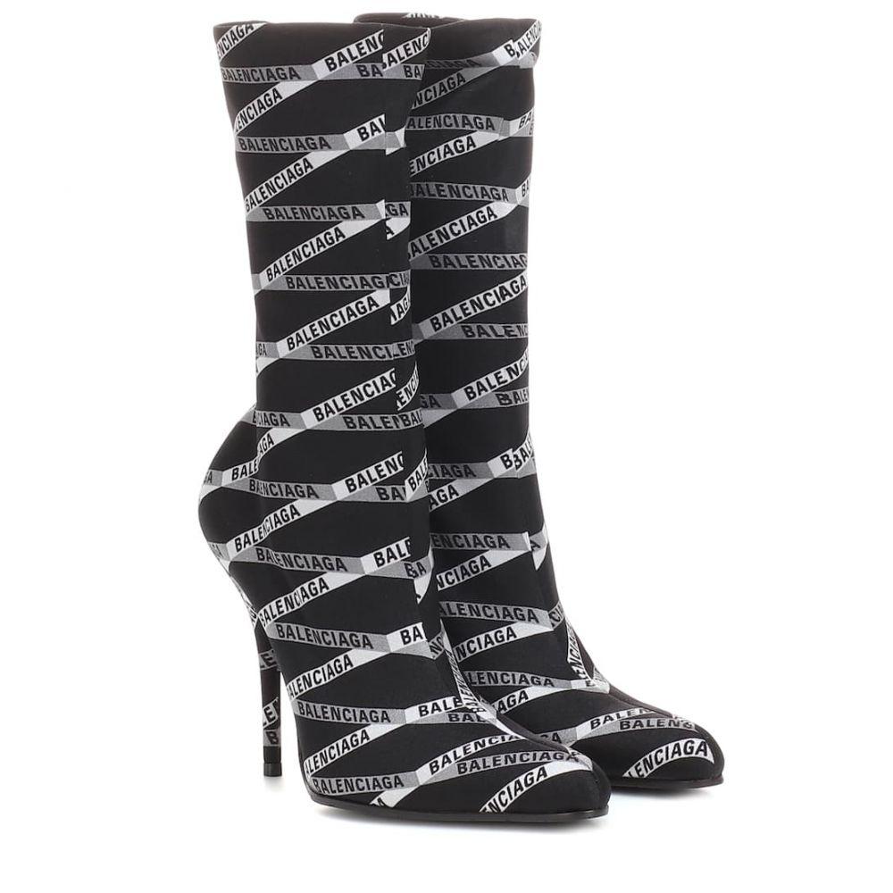 バレンシアガ Balenciaga レディース シューズ・靴 ブーツ【Stretch jersey sock boots】Gris Noir