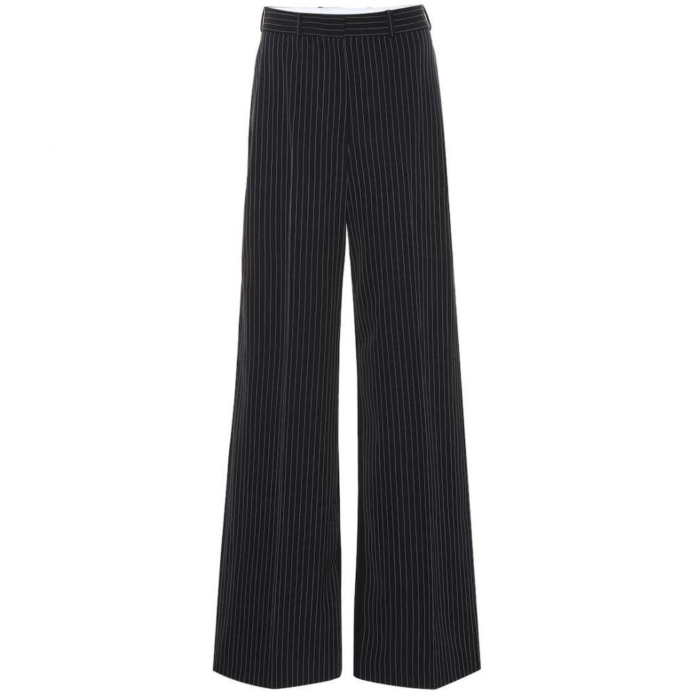 ステラ マッカートニー Stella McCartney レディース ボトムス・パンツ【Striped high-rise flared wool pants】ink
