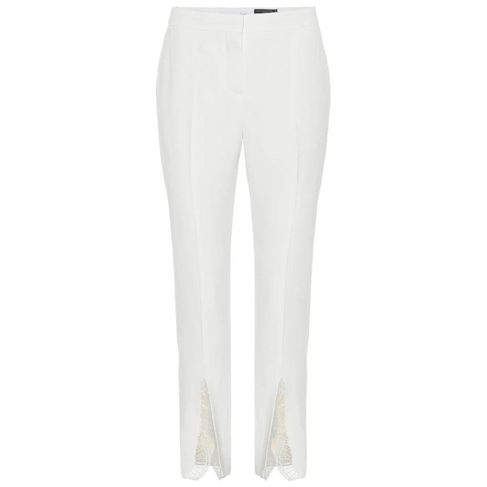 アレキサンダー マックイーン Alexander McQueen レディース ボトムス・パンツ【Mid-rise straight crepe pants】Ivory