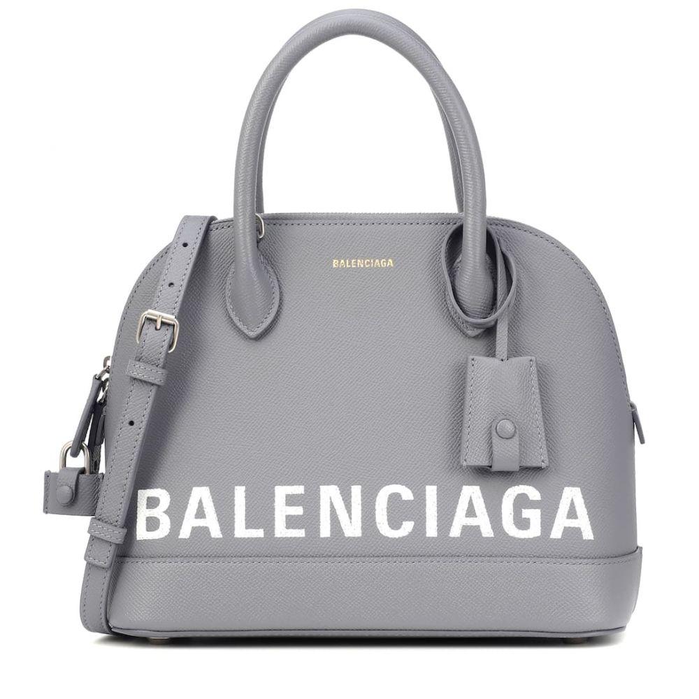 バレンシアガ Balenciaga レディース バッグ トートバッグ【Ville S leather tote】Gris Perle F/L Blanc