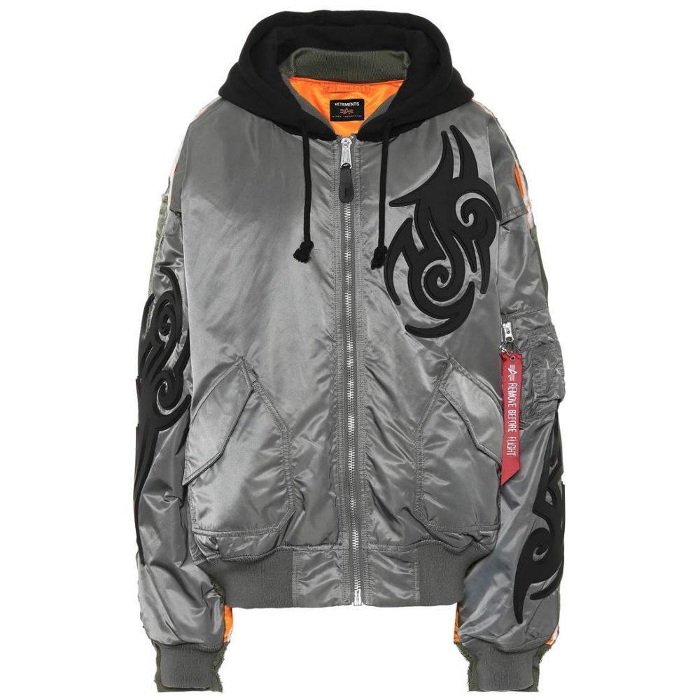 ヴェトモン Vetements レディース アウター ジャケット【x Alpha Industries hooded jacket】green