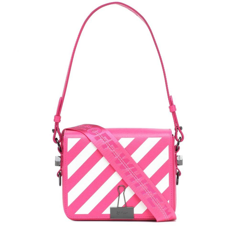 オフ-ホワイト Off-White レディース バッグ ショルダーバッグ【Binder Clip leather shoulder bag】fuchsia wh
