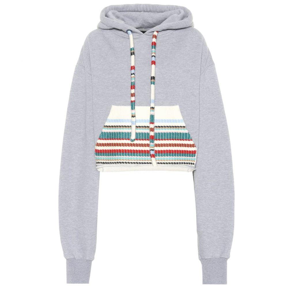 アラヌイ Alanui レディース トップス ニット・セーター【Cotton and cashmere hoodie】grey melange