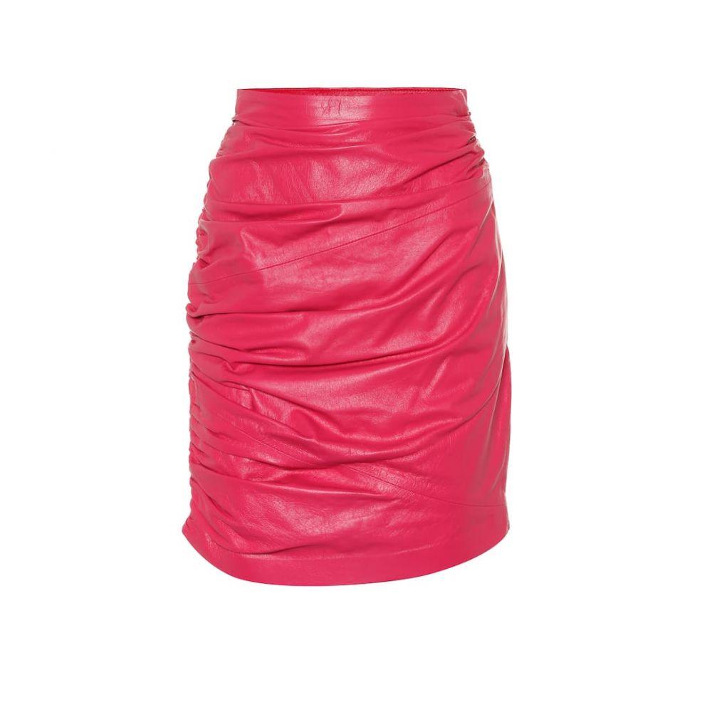 デュンダス Dundas レディース スカート ミニスカート【Leather miniskirt】Fuxia