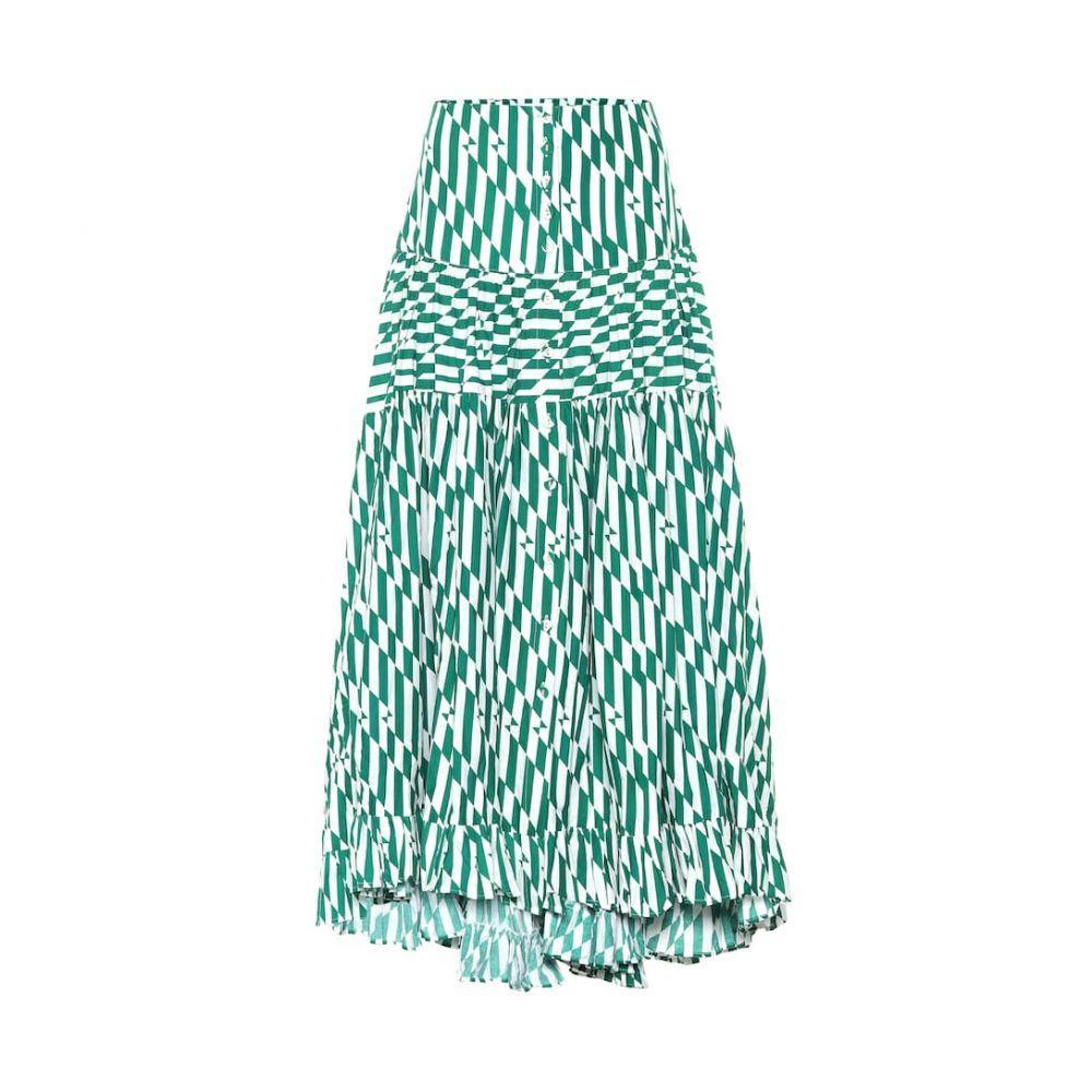 アレクサンドラ ミロ Alexandra Miro レディース スカート ロング・マキシ丈スカート【Penelope printed cotton maxi skirt】Green Geo