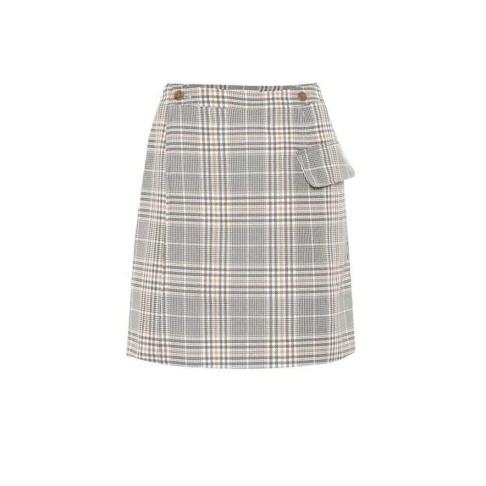 アクネ ストゥディオズ Acne Studios レディース スカート ミニスカート【Ivonne checked cotton-blend skirt】grey
