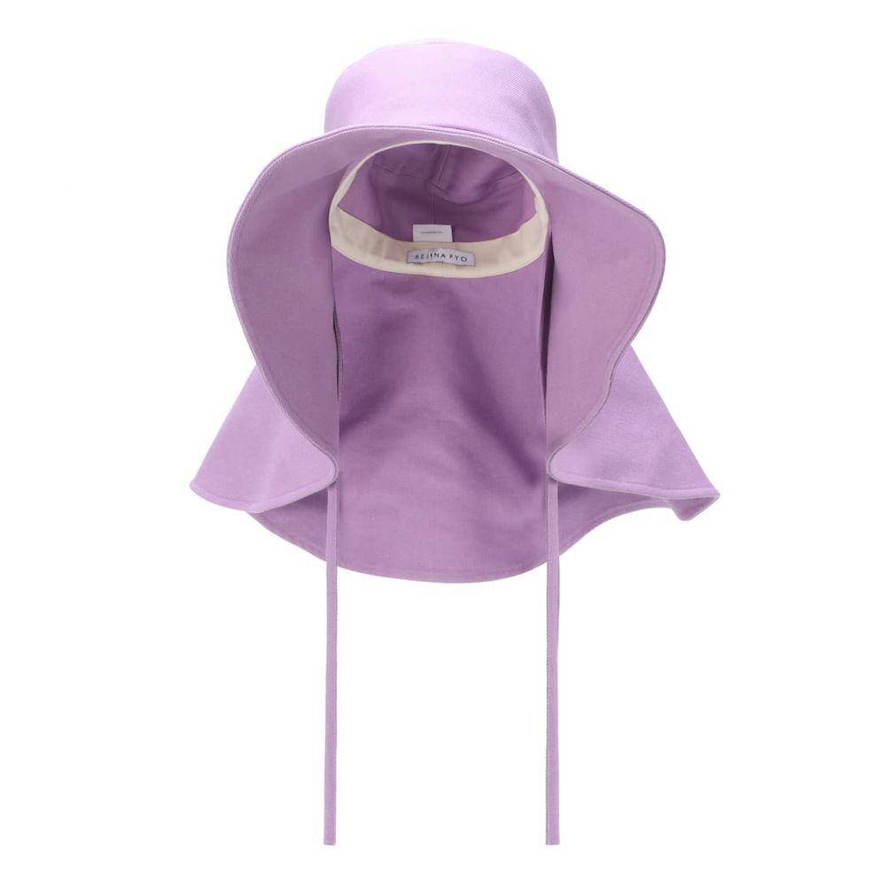 レジーナ ピヨ Rejina Pyo レディース 帽子【Daisy cotton-blend denim hat】Denim Lavender