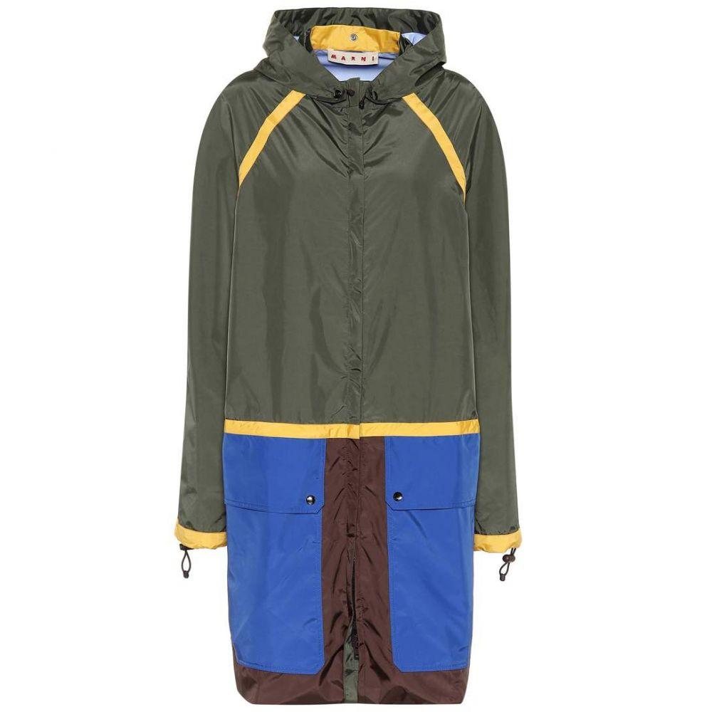 マルニ Marni レディース アウター レインコート【Reversible hooded raincoat】Dark Olive