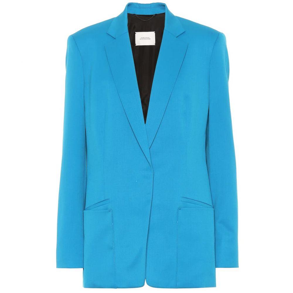 ドロシー シューマッハ Dorothee Schumacher レディース アウター スーツ・ジャケット【Cool Ambition stretch wool blazer】dazzling turquoise