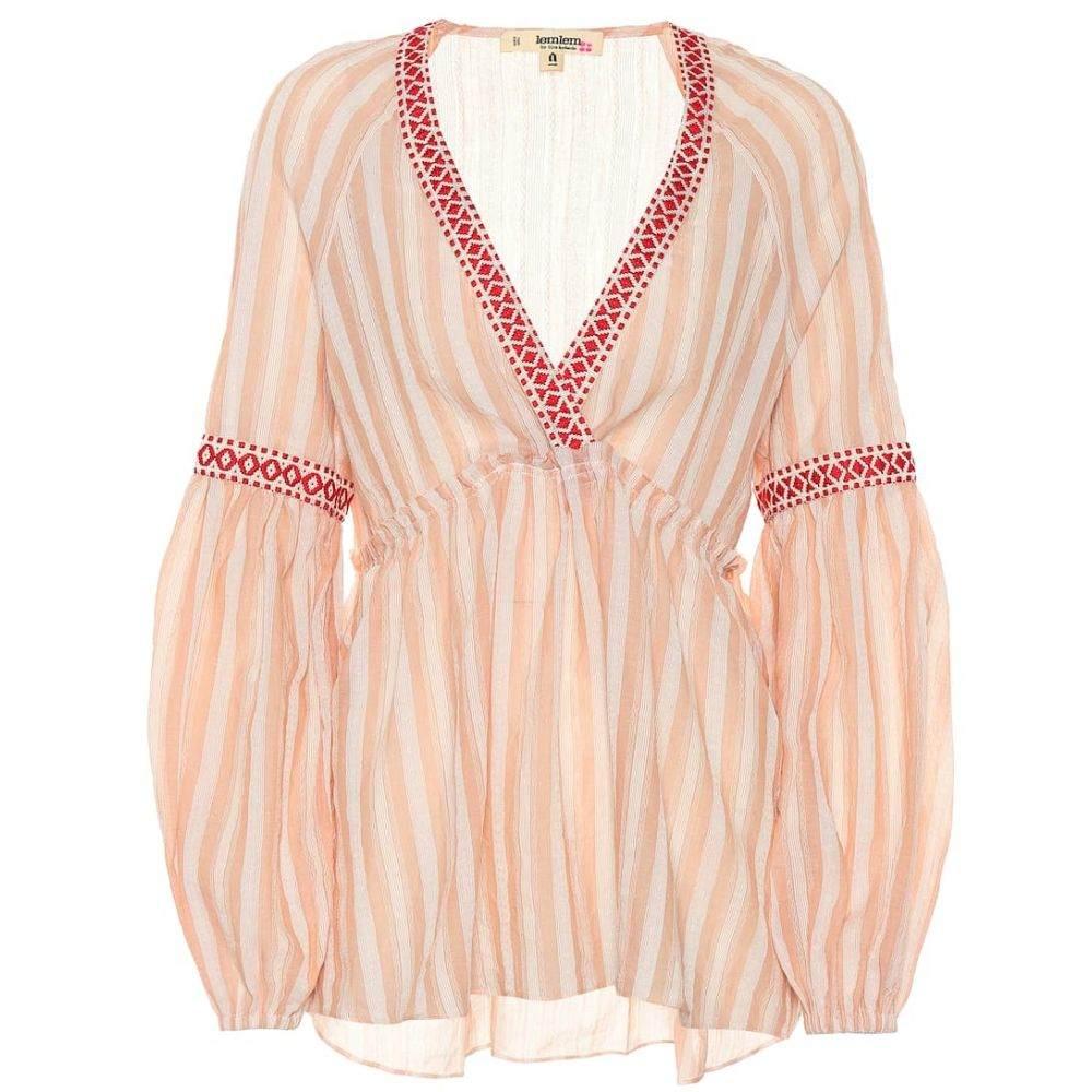 レムレム Lemlem レディース トップス ブラウス・シャツ【Nefasi striped cotton-blend blouse】coral