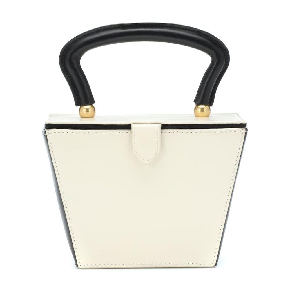 スタッド Staud レディース バッグ【Mini Sadie leather box bag】Cream Black