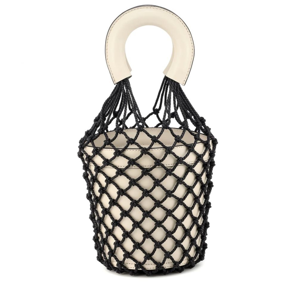 スタッド Staud レディース バッグ【Moreau leather bucket bag】Cream Black