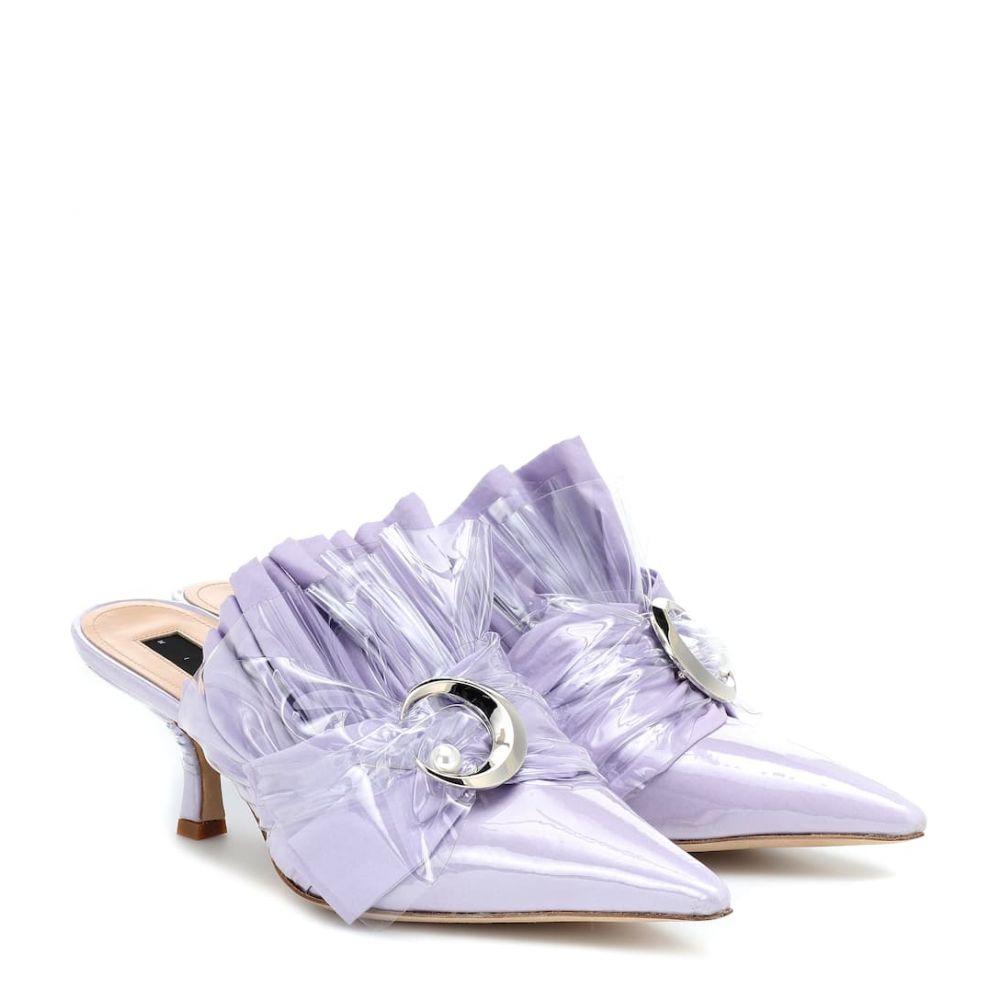 ミッドナイト 00 Midnight 00 レディース シューズ・靴 サンダル・ミュール【Embellished PVC kitten heel mules】cotton lilac
