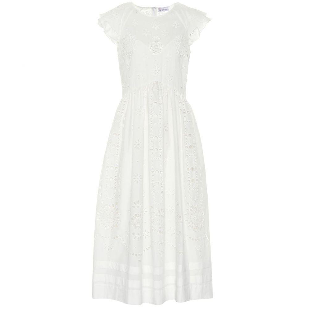 レッド ヴァレンティノ REDValentino レディース ワンピース・ドレス ワンピース【Broderie anglaise cotton dress】cream