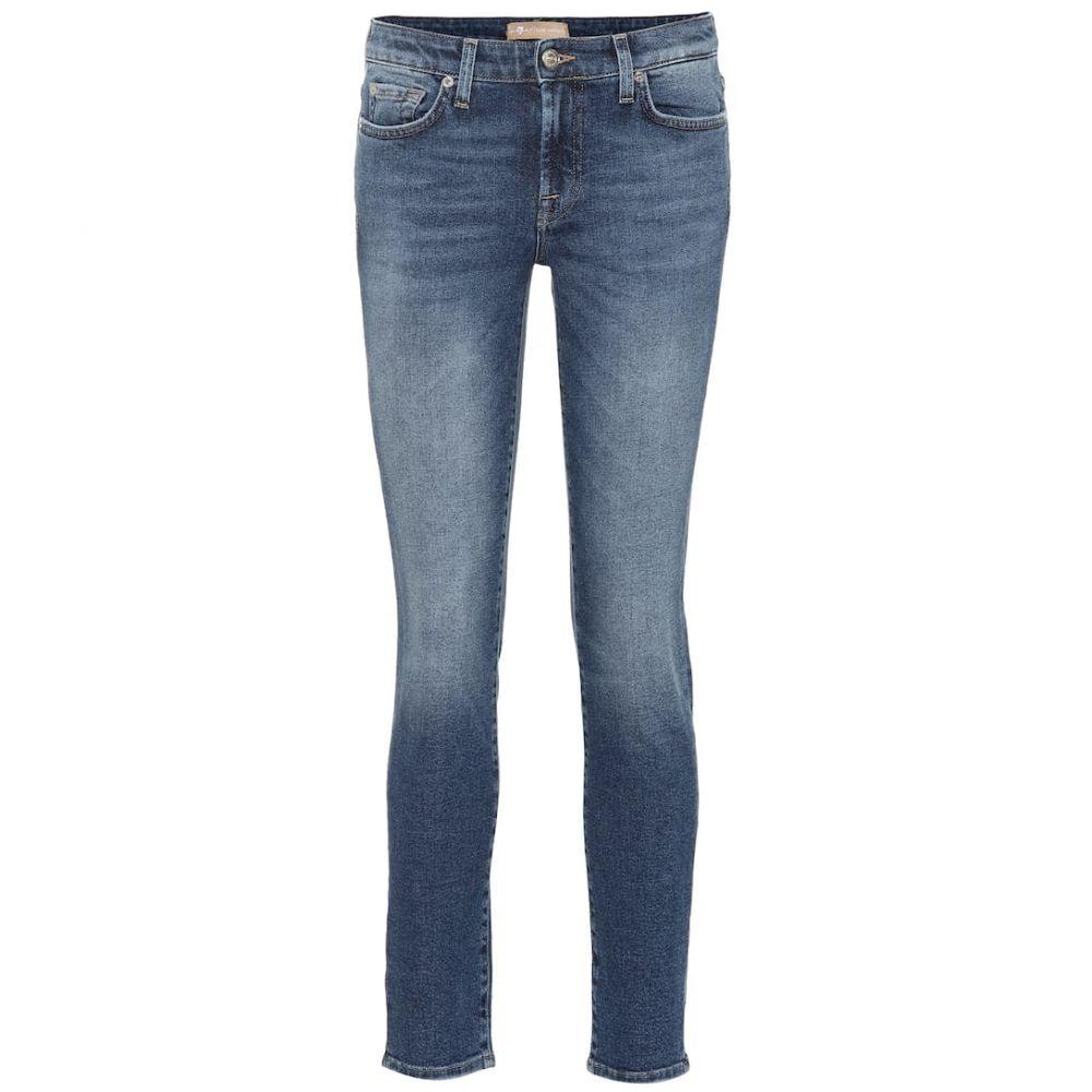 セブン フォー オール マンカインド 7 For All Mankind レディース ボトムス・パンツ ジーンズ・デニム【Pyper cropped mid-rise skinny jeans】Dark Blue
