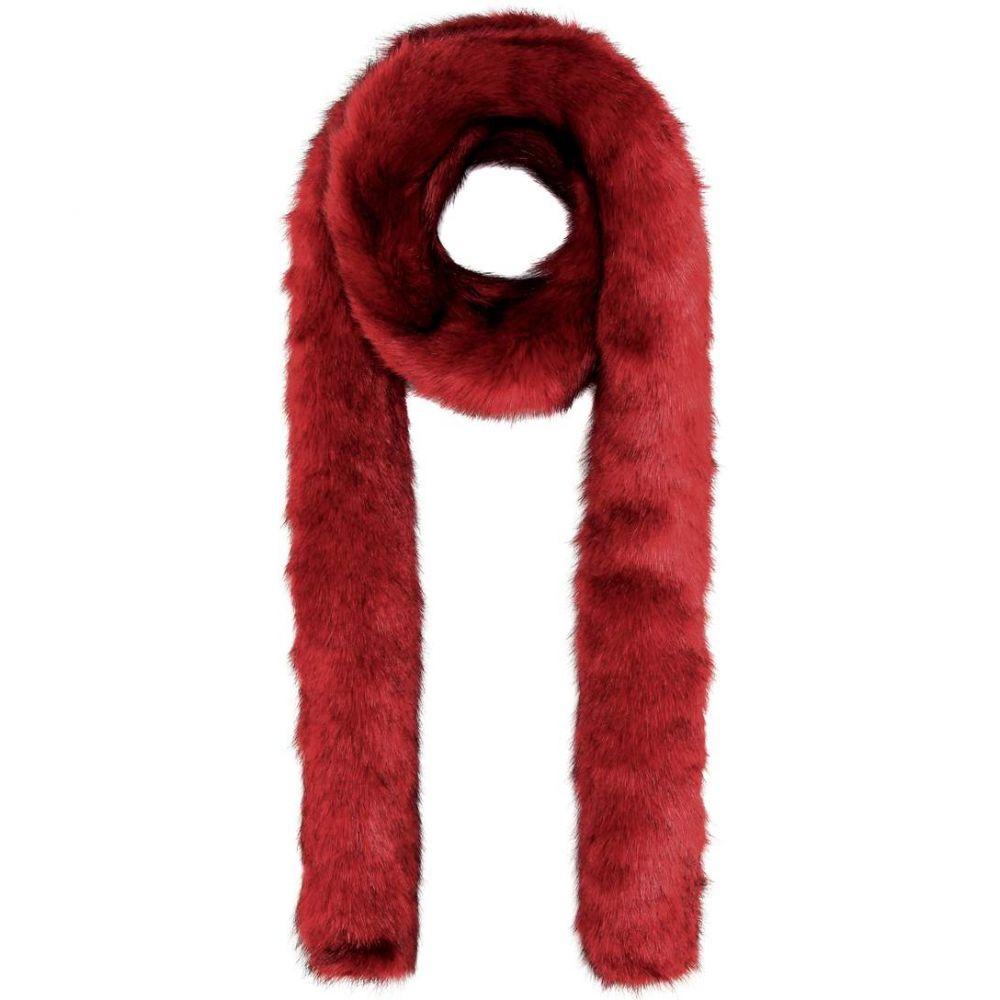 ヘルムート ラング Helmut Lang レディース マフラー・スカーフ・ストール【Faux-fur scarf】Carmine