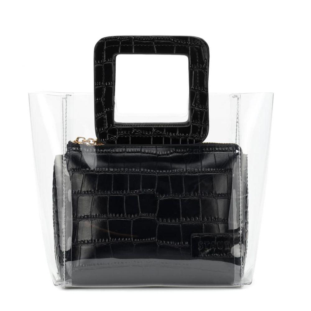 スタッド Staud レディース バッグ トートバッグ【Mini Shirley leather tote】Clear Black Croc