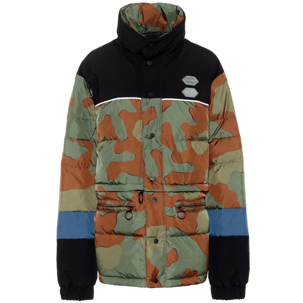 オフ-ホワイト Off-White レディース アウター ダウン・中綿ジャケット【Camouflage down jacket】camouflage