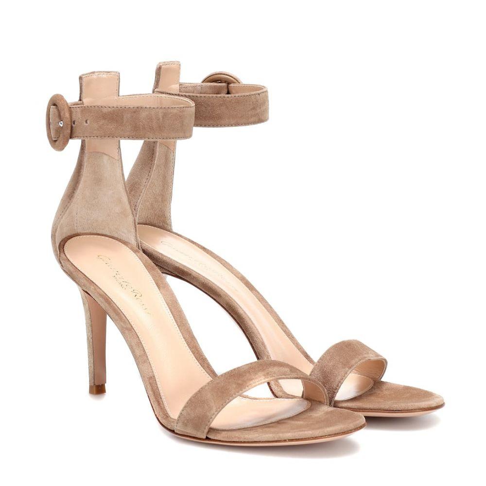 ジャンヴィト ロッシ Gianvito Rossi レディース シューズ・靴 サンダル・ミュール【Portofino 85 suede sandals】Camel