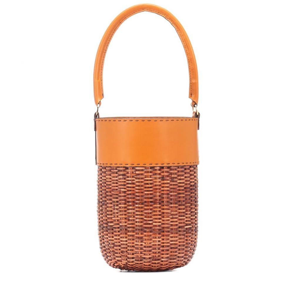 カユ Kayu レディース バッグ【Lucie leather-trimmed bucket bag】Caramel and Natural