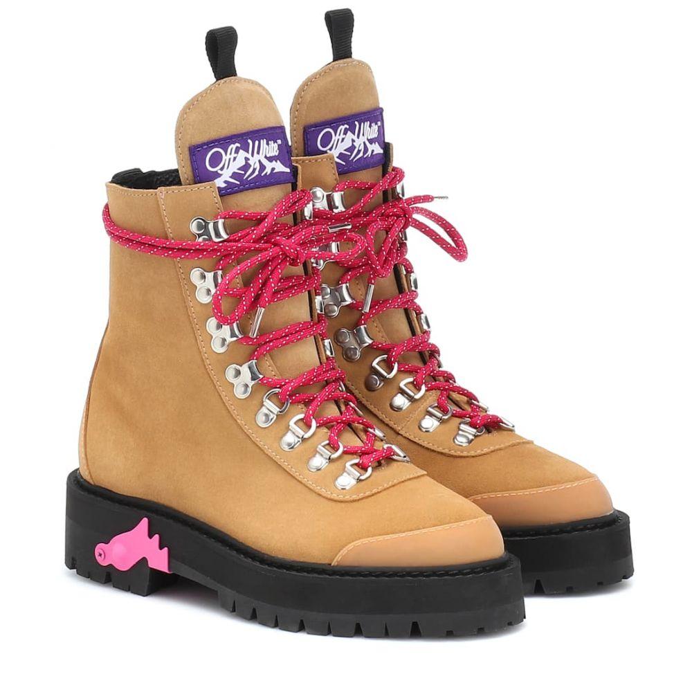 オフ-ホワイト ブーツ【suede Off-White レディース シューズ オフ-ホワイト・靴 シューズ・靴 ブーツ【suede ankle boots】Camel/Pink, sandy style:b7fc2bc1 --- sunward.msk.ru