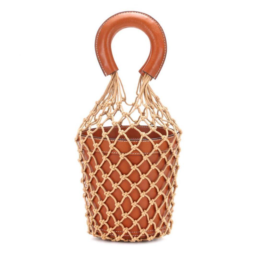 スタッド Staud レディース バッグ【Moreau leather bucket bag】Brown