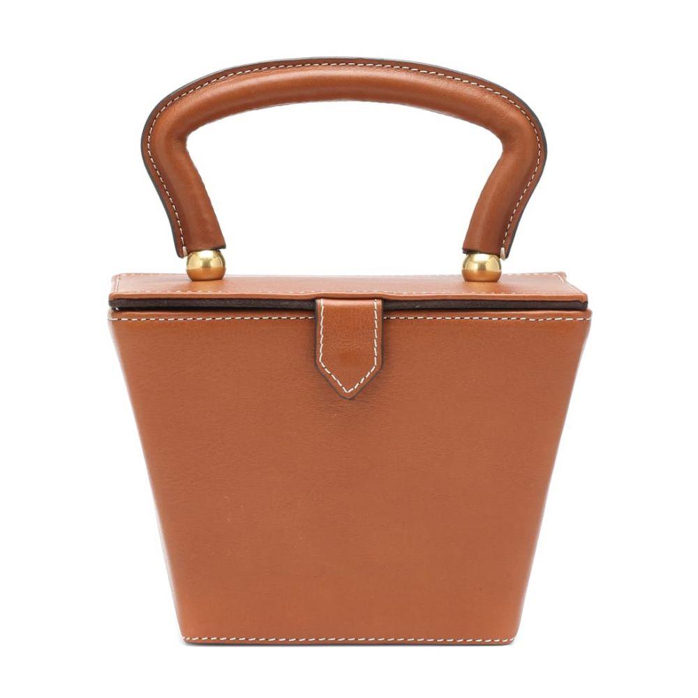 スタッド Staud レディース バッグ【Mini Sadie leather box bag】Brown