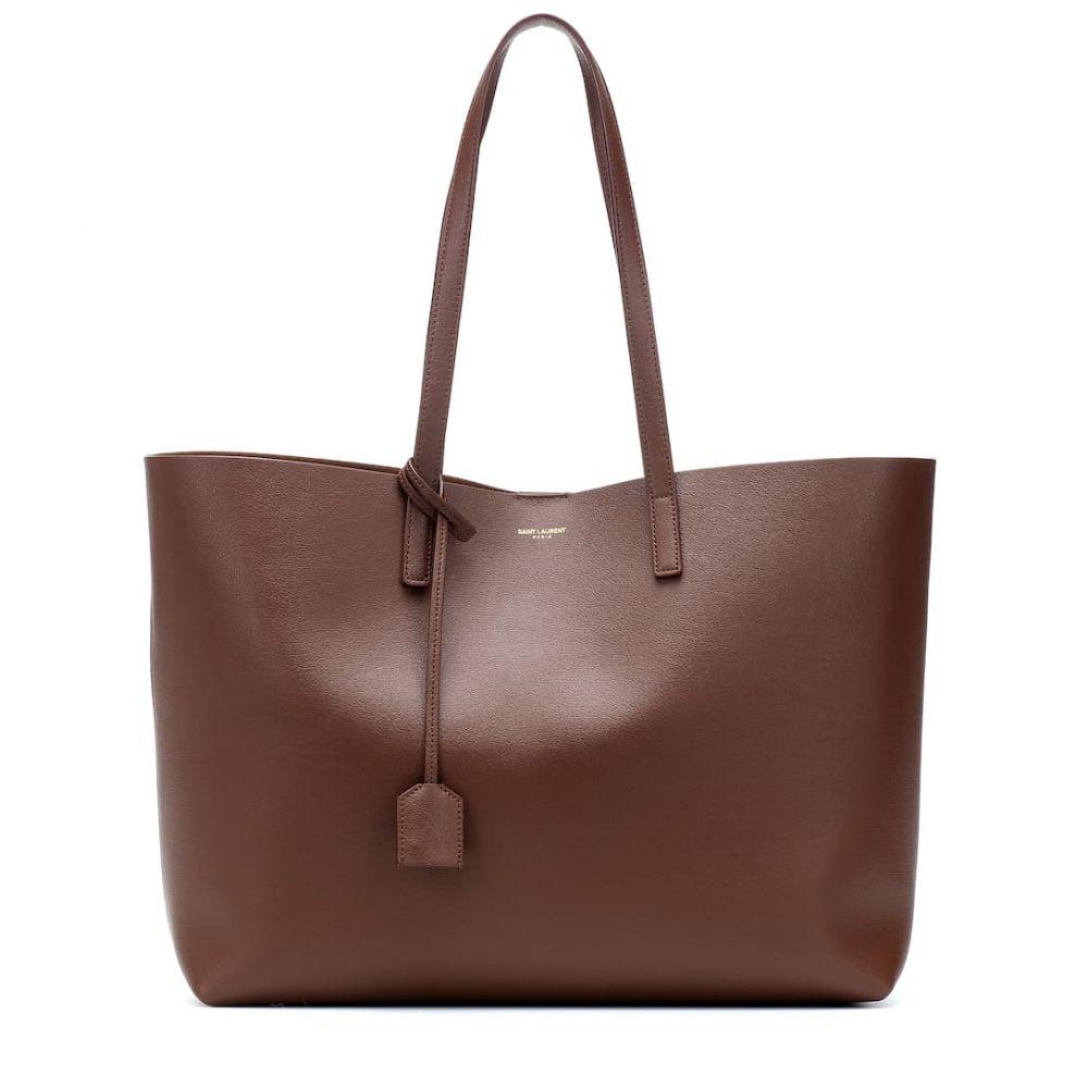 イヴ サンローラン Saint Laurent レディース バッグ トートバッグ【Large leather shopper】Brandy Old