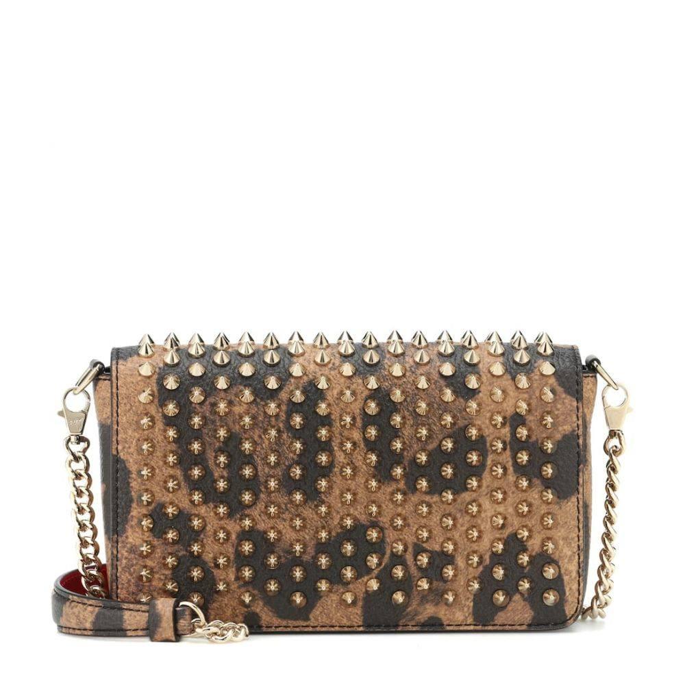 クリスチャン ルブタン Christian Louboutin レディース バッグ ショルダーバッグ【Zoompouch leather shoulder bag】Brown/Gold