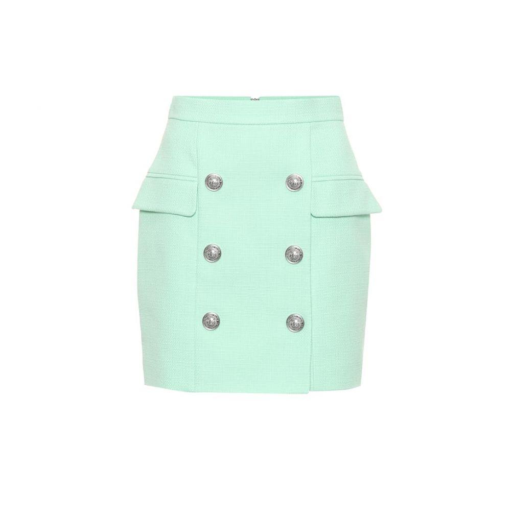 バルマン Balmain レディース スカート ミニスカート【Cotton miniskirt】Vert Deau