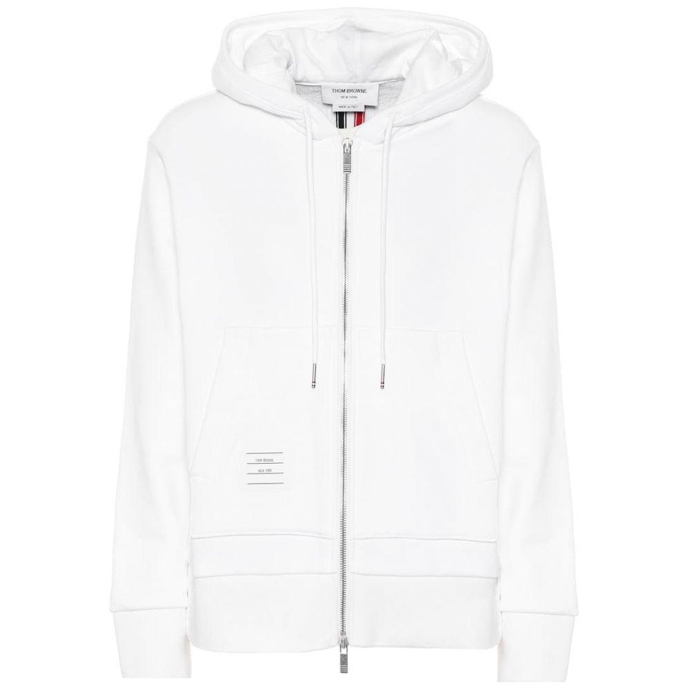 トム ブラウン Thom Browne レディース トップス パーカー【Cotton hoodie】White