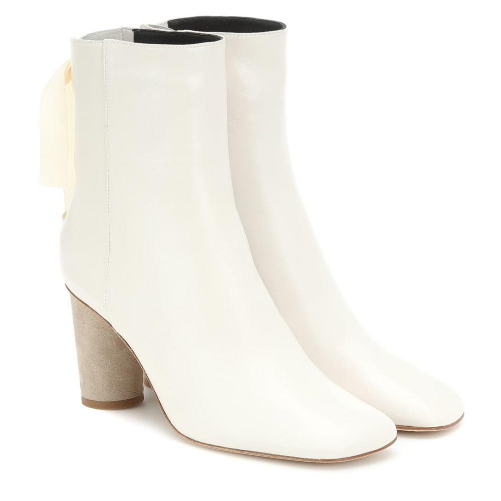 ロエベ Loewe レディース シューズ・靴 ブーツ【Leather ankle boots】white