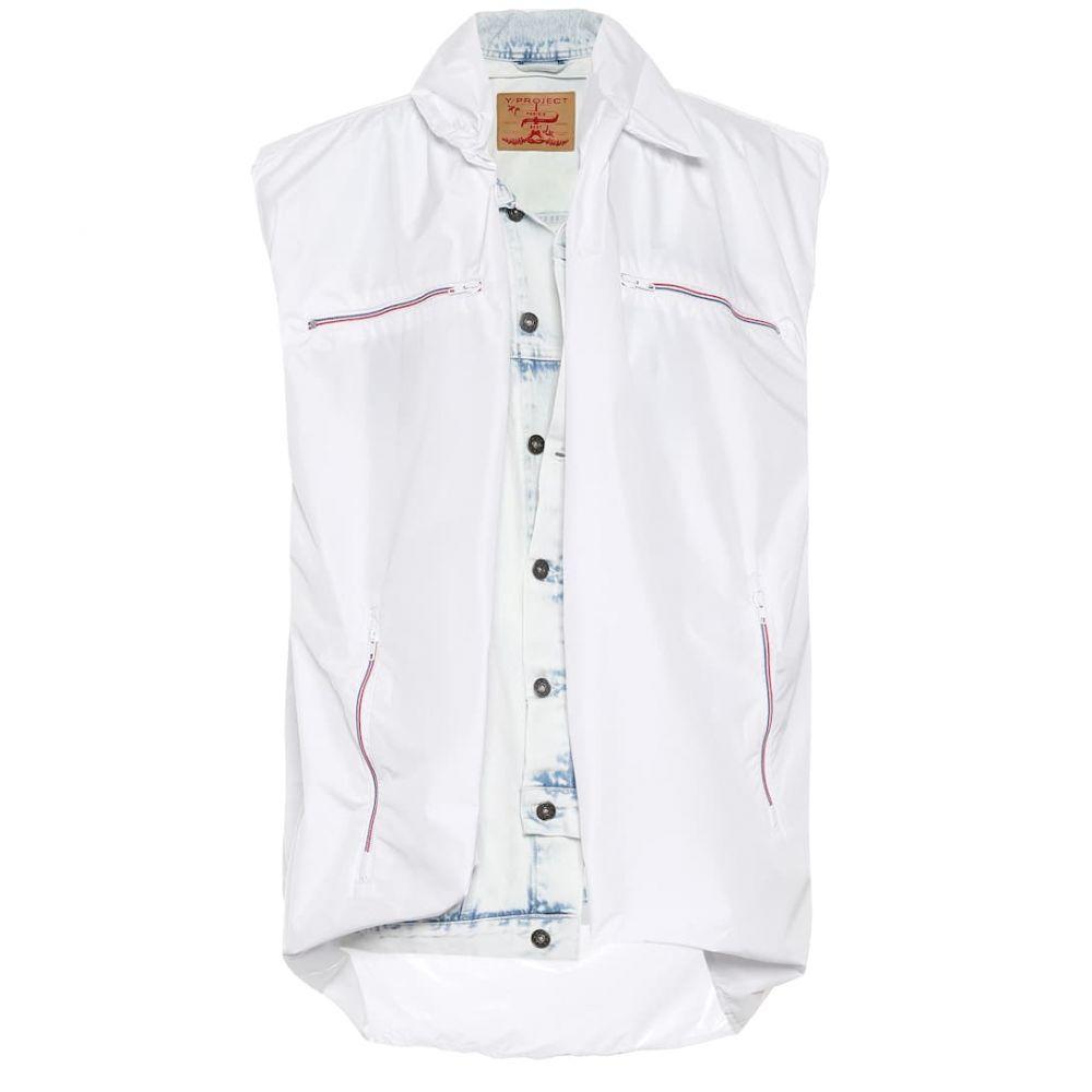 ワイプロジェクト Y/PROJECT レディース トップス ベスト・ジレ【Layered denim vest】white