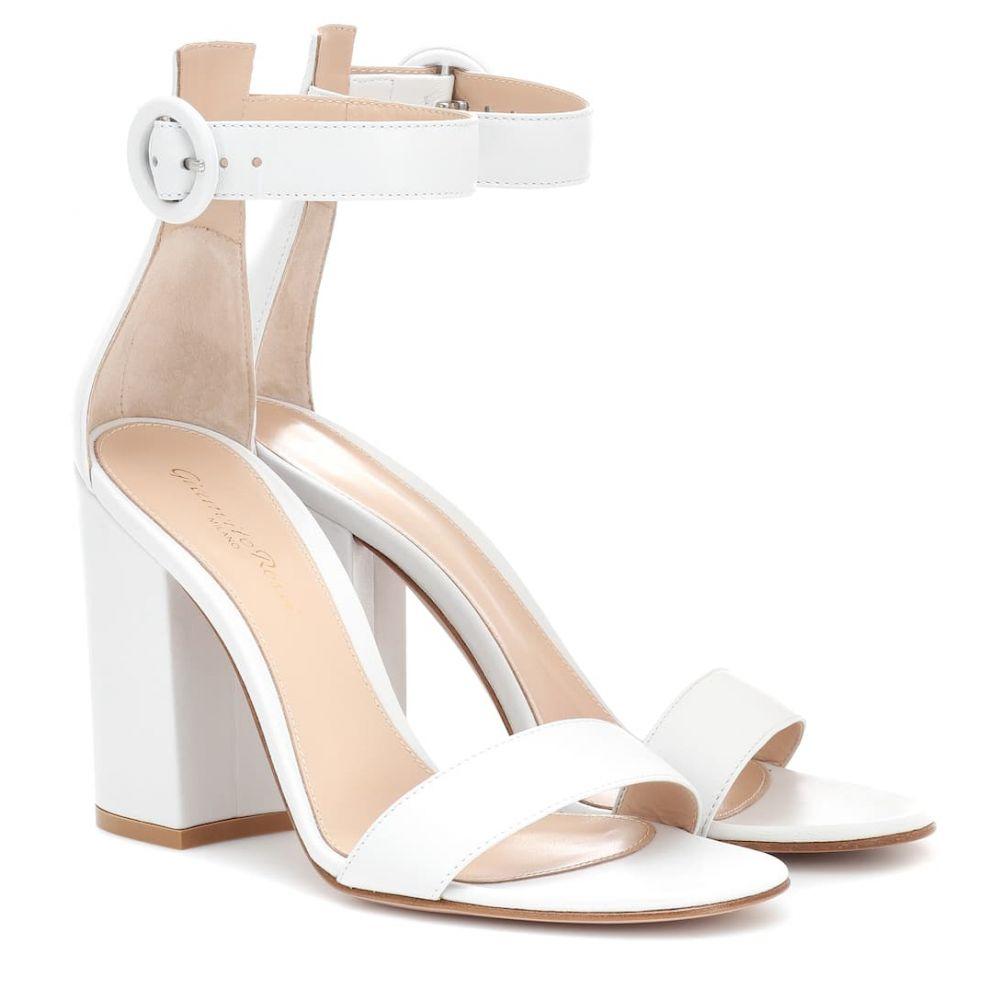 ジャンヴィト ロッシ Gianvito Rossi レディース シューズ・靴 サンダル・ミュール【Versilia 100 leather sandals】White