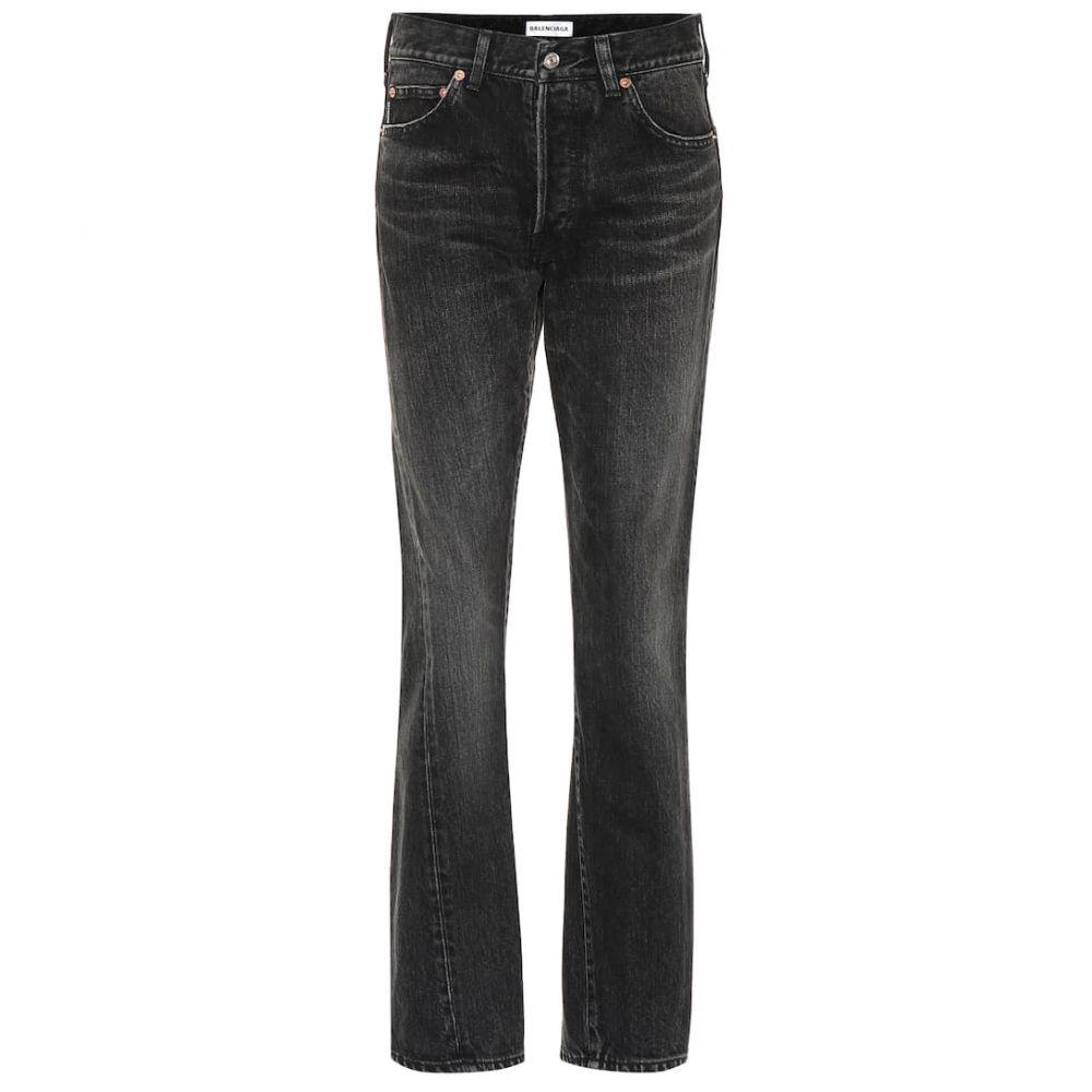バレンシアガ Balenciaga レディース ボトムス・パンツ ジーンズ・デニム【High-rise cotton jeans】Vintage Black