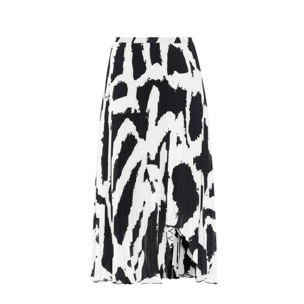 プロエンザ スクーラー Proenza Schouler レディース スカート ひざ丈スカート【Printed plisse midi skirt】Black/White XI Graffiti