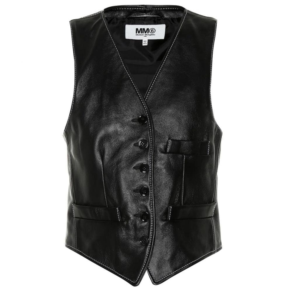 メゾン マルジェラ MM6 Maison Margiela レディース トップス ベスト・ジレ【Leather vest】Black\