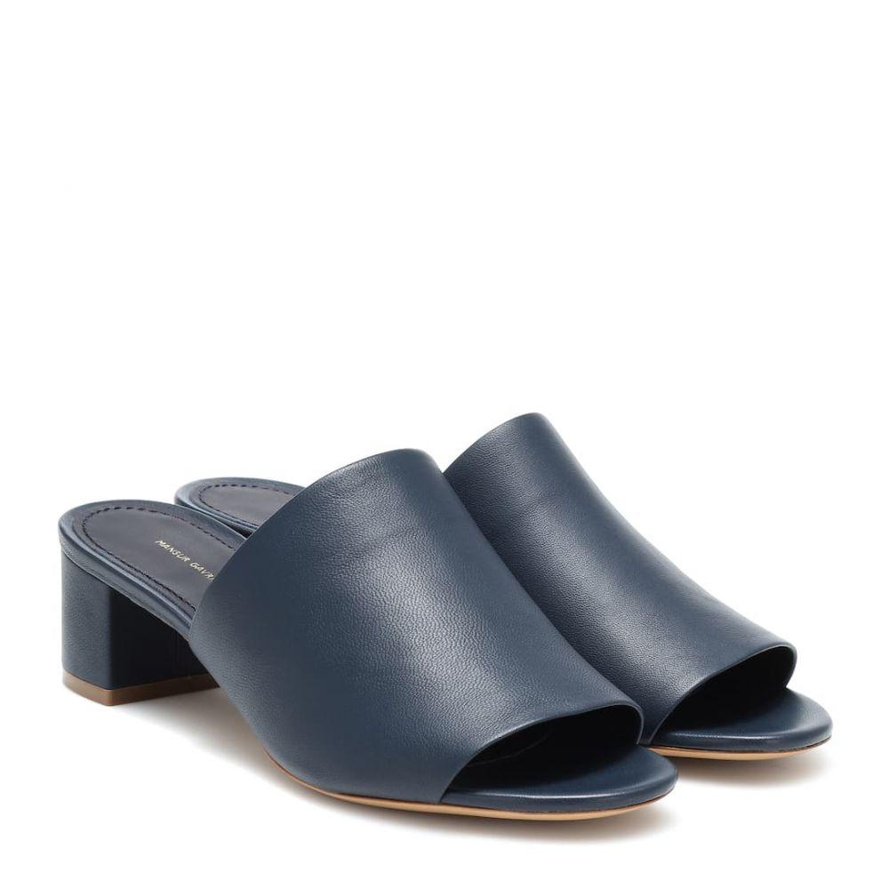 マンサーガブリエル Mansur Gavriel レディース シューズ・靴 サンダル・ミュール【40mm leather sandals】Blu