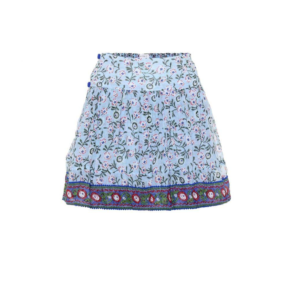 プーペット セント バース Poupette St Barth レディース スカート ミニスカート【Amora printed cotton miniskirt】Blue Margot