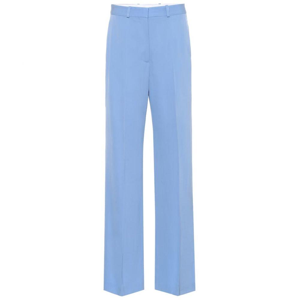 ステラ マッカートニー Stella McCartney レディース ボトムス・パンツ【Wool wide-leg pants】Blue Boat