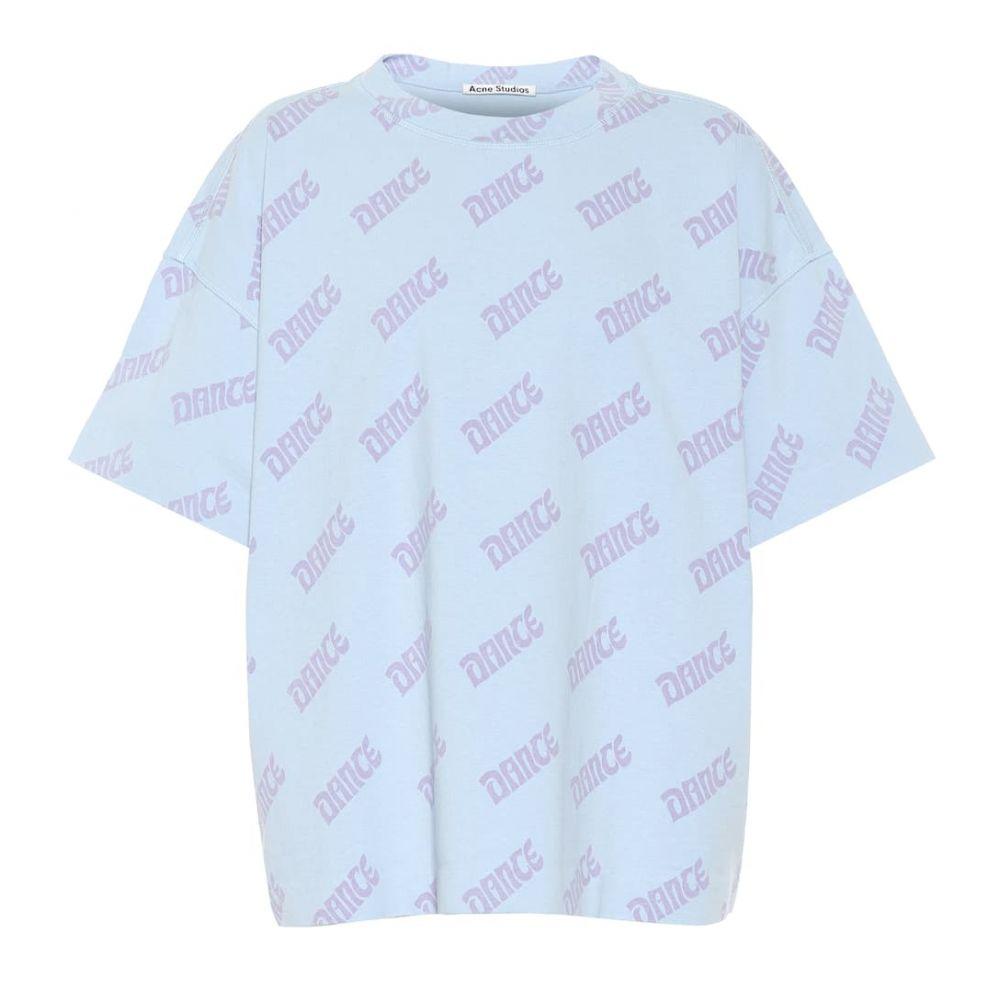 アクネ ストゥディオズ Acne Studios レディース トップス Tシャツ【Stellie Dance printed cotton T-shirt】blue