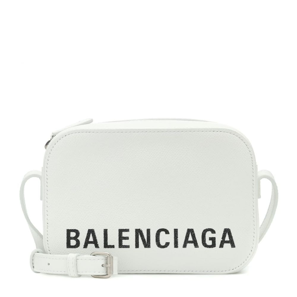 バレンシアガ Balenciaga レディース バッグ【Ville Camera XS leather shoulder bag】Blanc/L Noir